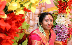 A beautiful indian shy bride Royalty Free Stock Image