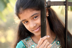 Beautiful Indian teen girl Royalty Free Stock Photos