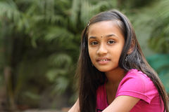 Beautiful Indian teen girl Stock Photography