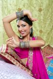 Beautiful indian traditional fashion style Royalty Free Stock Photos
