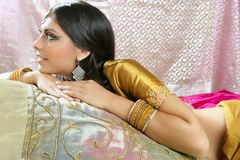 Beautiful indian traditional fashion style Stock Photo