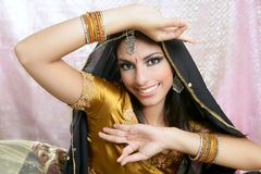 Beautiful indian traditional fashion style Stock Photos