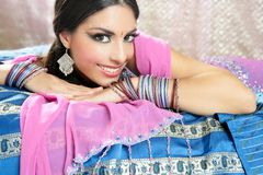 Beautiful indian traditional fashion style Stock Image