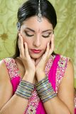 Beautiful indian traditional fashion style Stock Images
