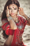 Beautiful Indian Woman Bellydancer. Arabian Bride Royalty Free Stock Photos