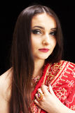Beautiful Indian woman with blue eyes Royalty Free Stock Images