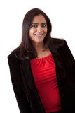 Beautiful Indian Woman in business attire. Portrait of an East Indian woman in a business attire against a white backdrop Stock Image