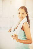Beautiful Indian woman fitness healthy happy Royalty Free Stock Photography