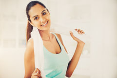 Beautiful Indian woman fitness healthy happy Stock Photo