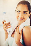 Beautiful Indian woman fitness healthy happy Royalty Free Stock Photos