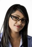 Beautiful Indian Woman with glasses on smiling Stock Image