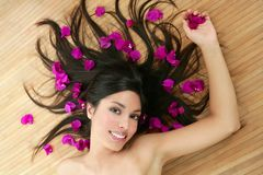 Beautiful indian woman portrait in a beauty spa Stock Image