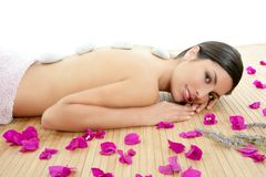 Beautiful indian woman portrait in a beauty spa stock photography