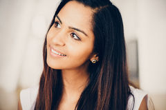 Beautiful Indian woman portrait happy smiling Royalty Free Stock Photography