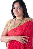 Beautiful Indian Woman in a Sari Stock Images