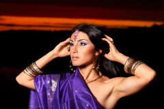 Beautiful indian woman with traditional fashion Royalty Free Stock Images