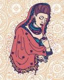 Beautiful indian woman in traditional saree Stock Image