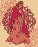 Beautiful indian woman in traditional saree Stock Photo
