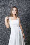 Beautiful indian woman in white wedding dress Stock Photos