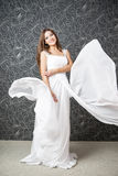 Beautiful indian woman in white wedding dress Stock Photography