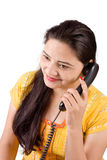 Beautiful Indian women on phone Stock Images