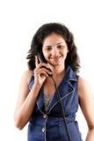 Beautiful Indian women on phone Stock Image