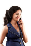 Beautiful Indian women on phone Royalty Free Stock Photo