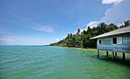 Indonesia sea view royalty free stock image