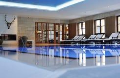 Beautiful indoor swimmingpool Stock Photos