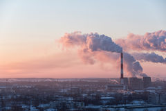 Beautiful industrial cityscape during sunrise Royalty Free Stock Photography
