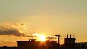 Beautiful industrial sunset Royalty Free Stock Photos