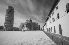 Beautiful infrared view of Leaning Tower in Pisa Royalty Free Stock Photo