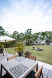 Beautiful inner yard Royalty Free Stock Photo