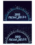 Beautiful inscription Happy New Year in a circle Royalty Free Stock Photography