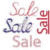 Beautiful inscription sale Stock Photo