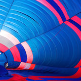 Beautiful inside big balloon on ground before input gas Royalty Free Stock Image