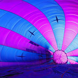 Beautiful inside big balloon on ground before input gas.  Royalty Free Stock Photos