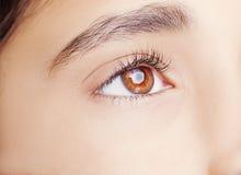 A beautiful insightful look  eye. Close up shot Royalty Free Stock Photos