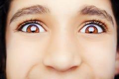 A beautiful insightful look  eye. Stock Image