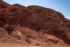 Beautiful inspirational landscape - a rock of red stone Death Valley National Park. Beautiful inspirational landscape - a rock of red stone, Death Valley royalty free stock images