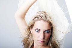 Beautiful intense young woman Royalty Free Stock Images
