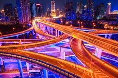 Beautiful interchange overpass closeup Royalty Free Stock Images