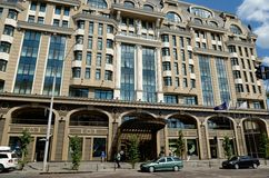Beautiful Intercontinental hotel in Kiev Royalty Free Stock Image