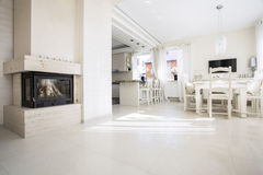 Beautiful interior of apartment Royalty Free Stock Images