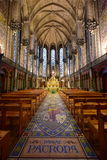 Beautiful interior of the Basilica of Notre Dame de la Treille Royalty Free Stock Images