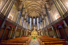 Beautiful interior of the Basilica of Notre Dame de la Treille Stock Photos