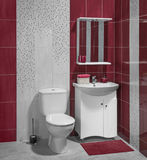 Beautiful interior of bathroom with sink and toilet Stock Photo