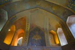 Beautiful interior of Chehel Sotoun Palace,Isfahan, Iran. Stock Photography