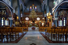 Beautiful interior of the church of the Greek Catholic Royalty Free Stock Photos