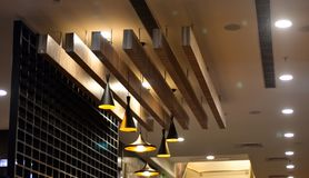 Interior decoration of a restaurant - stock photograph stock photography
